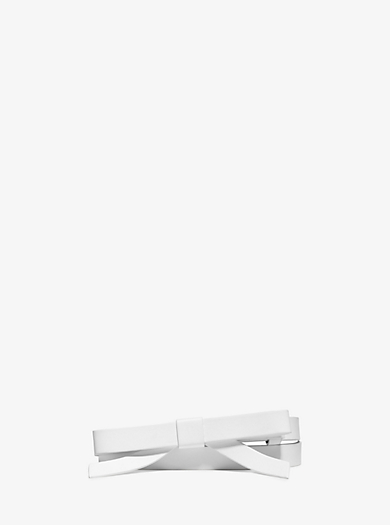 Skinny Leather Bow Belt by Michael Kors