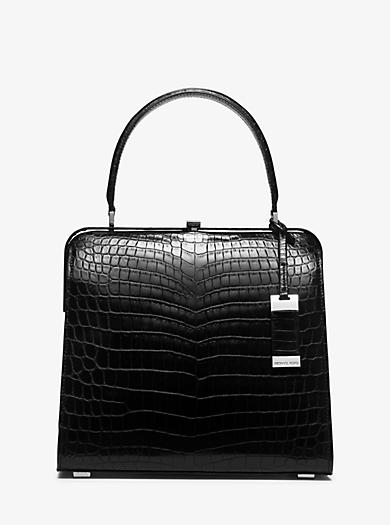Cary Medium Nile Crocodile Top-Handle Bag by Michael Kors