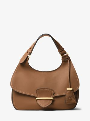 Josie Large French Calf Leather Shoulder Bag by Michael Kors
