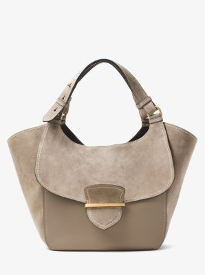 Josie Large Leather and Suede Tote  by Michael Kors