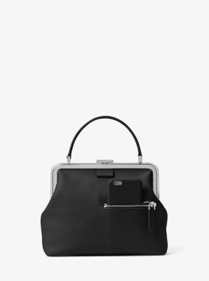 Angela Small French Calf Leather Top-Handle Bag  by Michael Kors