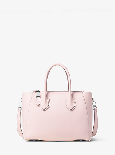 Helena Small French Calf Leather Satchel by Michael Kors