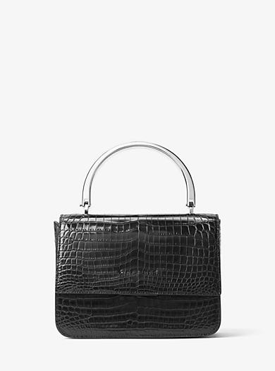 Kylie Small Crocodile Top-Handle Bag by Michael Kors