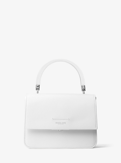 Kylie Small French Calf Top-Handle Bag by Michael Kors