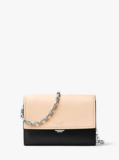 Yasmeen Small Leather Clutch by Michael Kors