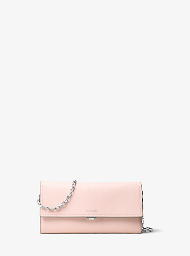 Yasmeen Large French Calf Leather Clutch by Michael Kors