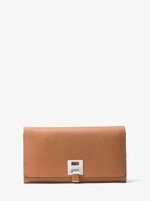 마이클 코어스 밴크로프트 장지갑 Michael Kors Bancroft Pebbled Calf Leather Continental Wallet
