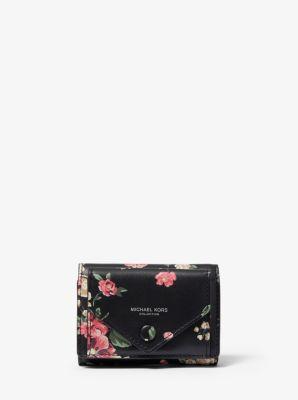 마이클 코어스 반지갑 Michael Kors Floral Calf Leather Small Pocket Wallet