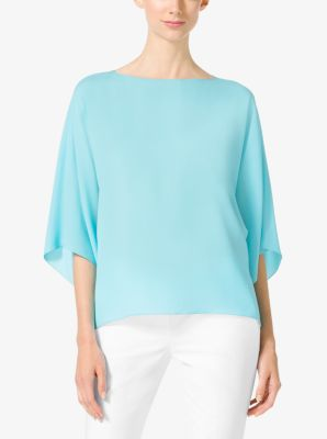 Bateau Silk-Georgette Tunic by Michael Kors
