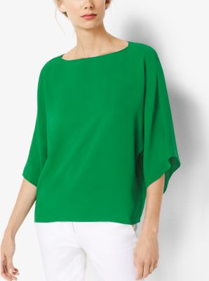 Silk-Georgette Tunic by Michael Kors