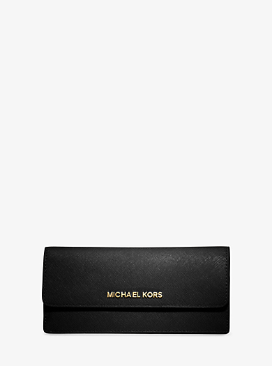 Brieftasche Jet Set Travel Slim aus Saffianleder by Michael Kors