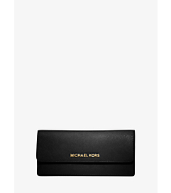 Jet Set Travel Slim Saffiano Leather Wallet by Michael Kors