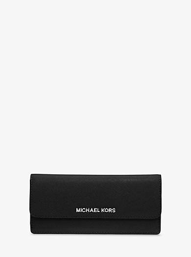 Brieftasche Jet Set Travel aus Saffianleder by Michael Kors