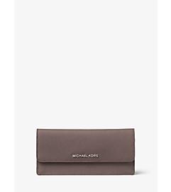 Jet Set Travel Saffiano Leather Wallet by Michael Kors