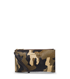 Bedford Camouflage Hair Calf Clutch