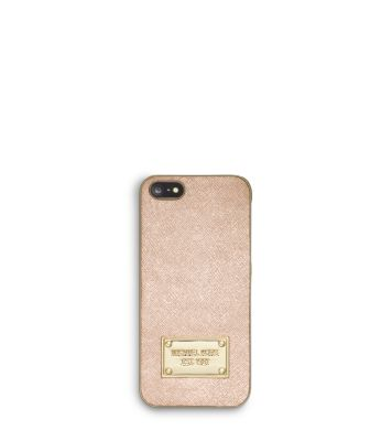 metallic saffiano leather phone case for iphone 5. Black Bedroom Furniture Sets. Home Design Ideas