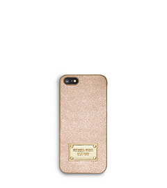 Metallic Saffiano Leather Phone Case