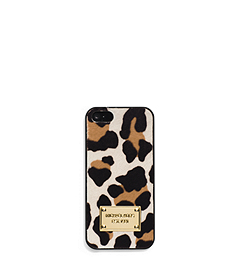 Mara Leopard Hair Calf Phone Case