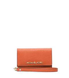 Saffiano Leather Phone Wristlet