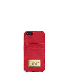 Saffiano Leather Pocket Phone Case