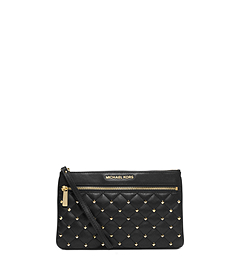 Selma Studded Leather Clutch