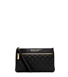 Selma Quilted Leather Clutch