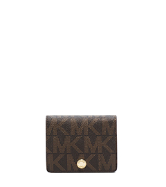 Logo Saffiano Leather Wallet
