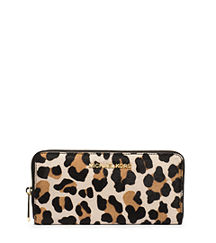 Jet Set Travel Leopard Hair Calf Wallet