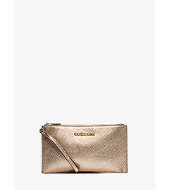 Bedford Metallic Leather Large Clutch