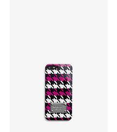 Houndstooth Saffiano Leather Phone Case