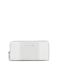Jet Set Micro-Stud Saffiano Leather Wallet