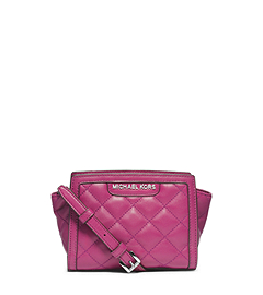 Selma Quilted Leather Mini Messenger