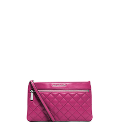 Selma Quilted-Leather Large Clutch