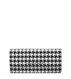 Jet Set Travel Houndstooth Saffiano Leather Wallet
