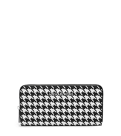 Jet Set Travel Houndstooth Saffiano Leather Continental
