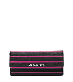 Florence Striped Saffiano Leather Wallet