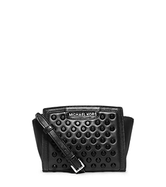 Selma Studded Leather Mini Messenger