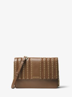 Brooklyn Grommet Large Leather Crossbody  by Michael Kors