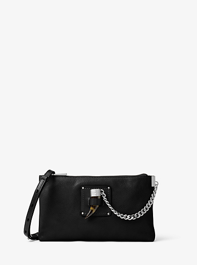 James Large Leather Clutch by Michael Kors