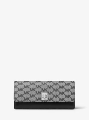 Natalie Heritage Signature Logo Wallet by Michael Kors