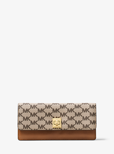 Natalie Heritage Signature Logo Wallet by Michael Kors