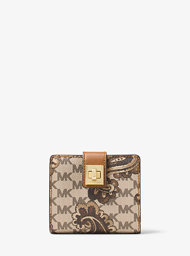 Natalie Medium Heritage Paisley Wallet  by Michael Kors