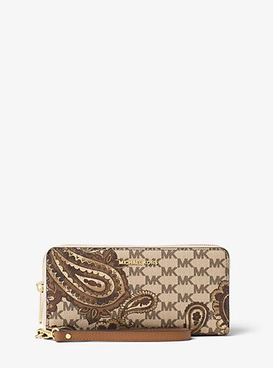 Daniela Large Heritage Paisley Wristlet Wallet by Michael Kors