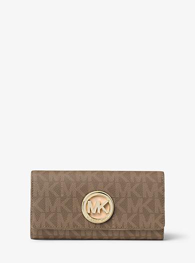 Fulton Logo Carryall Wallet by Michael Kors