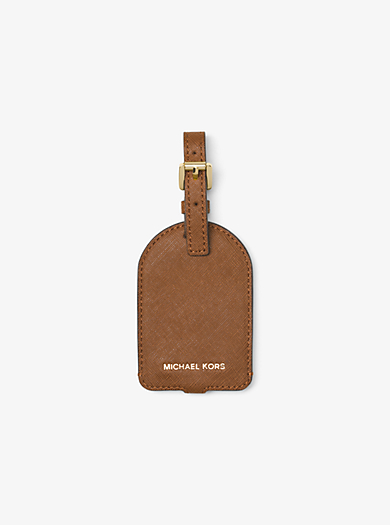 Jet Set Travel Saffiano Leather Luggage Tag by Michael Kors