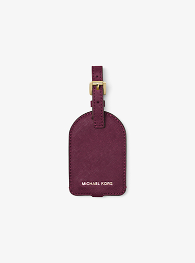 Saffiano Leather Luggage Tag  by Michael Kors