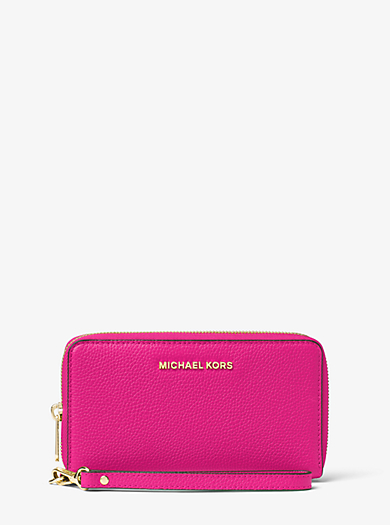 Mercer Large Leather Smartphone Wristlet by Michael Kors