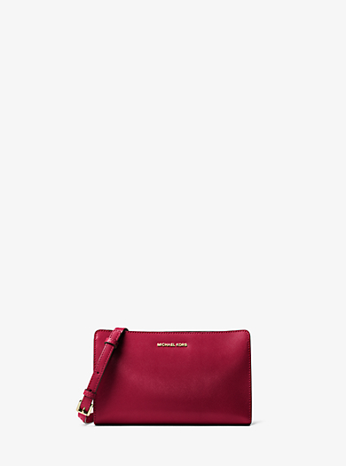 Tracolla Jet Set Travel grande in pelle by Michael Kors