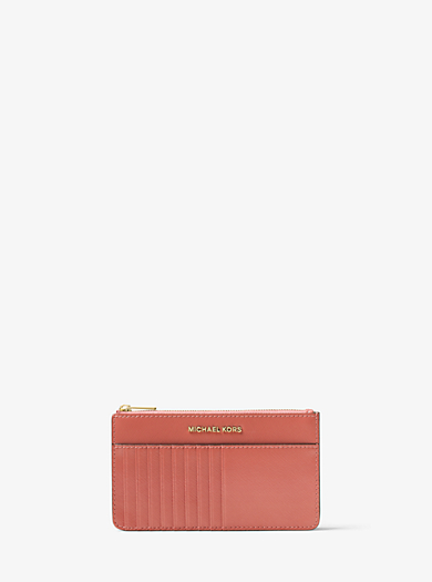 Jet Set Travel Patent-Leather Smartphone Card Pouch by Michael Kors