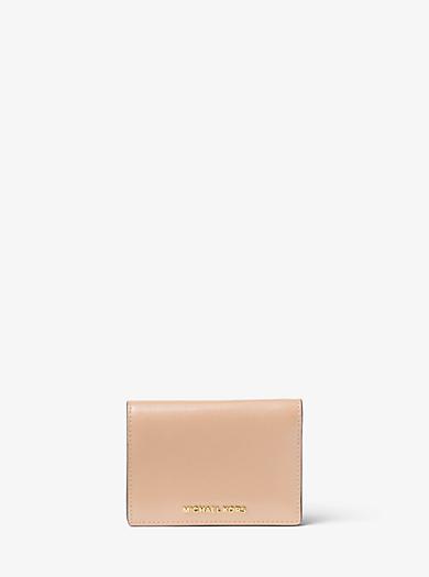 Jet Set Travel Patent-Leather Card Holder by Michael Kors